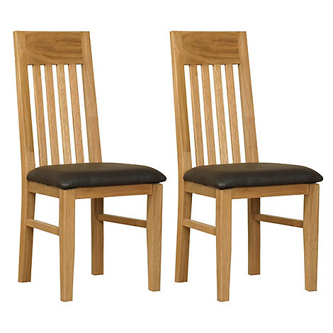 Debenhams - Pair of oak +Kent+ dining chairs
