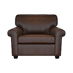 Debenhams - Leather 'Oban' loveseat