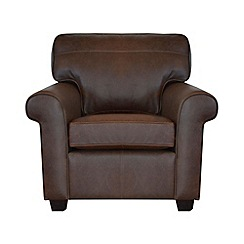 Debenhams - Leather 'Oban' armchair