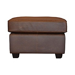 Debenhams - Leather 'Oban' footstool