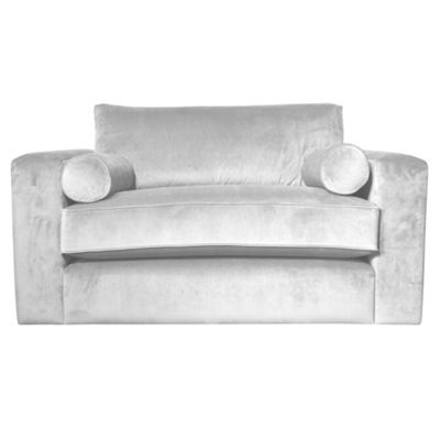 Silver arundel velvet Goodwood snuggler chair