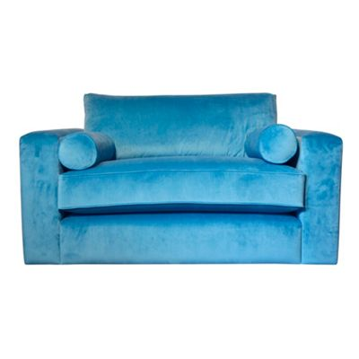 Teal arundel velvet Goodwood snuggler armchair