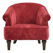 Red 'Chesterfield' armchair