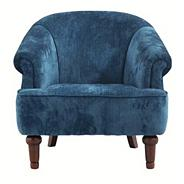 Blue 'Chesterfield' occasional chair