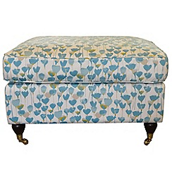 Debenhams - Floral print 'Alethea' footstool