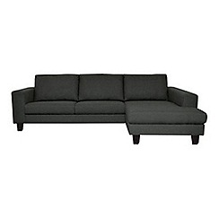 Ben de Lisi Home - Grey textured 'Cara Lemans' right-hand facing chaise corner sofa