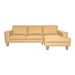 Ben de Lisi Home - Leather 'Cara' right-hand facing chaise corner sofa