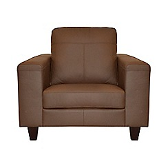 Ben de Lisi Home - Leather 'Cara' armchair