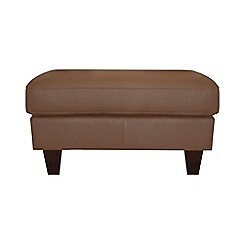 Ben de Lisi Home - Leather 'Cara' footstool