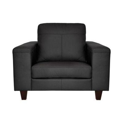 Ben de Lisi Home Black leather ´Cara´ snugger with dark wood feet - -