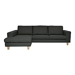 Ben de Lisi Home - Textured 'Cara Lemans' left-hand facing chaise corner sofa
