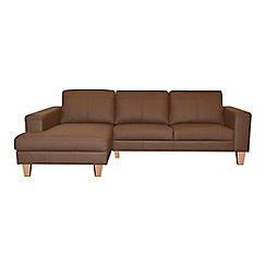 Ben de Lisi Home - Leather 'Cara' left-hand facing chaise corner sofa