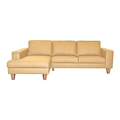 Ben de Lisi Home - Leather 'Cara' left-hand facing chaise corner sofa