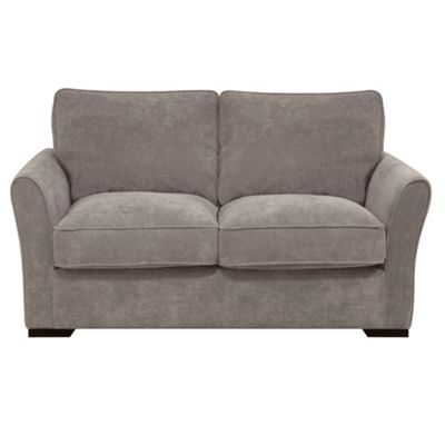 Grey Fyfield sofa bed with dark wood feet