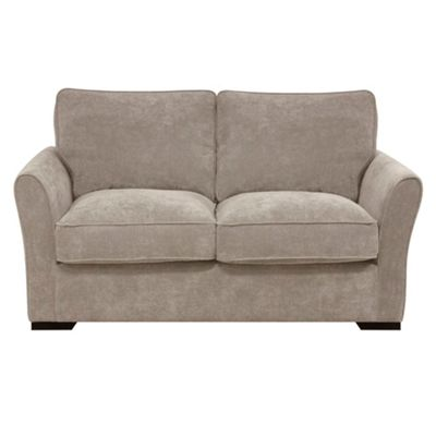 Taupe Fyfield sofa bed with dark wood feet