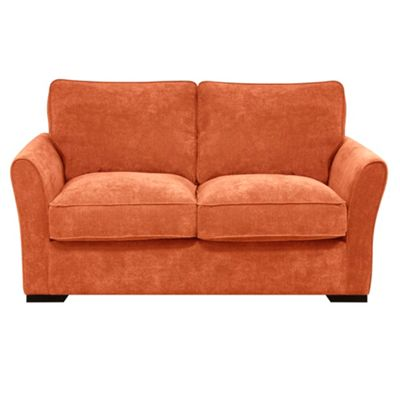 Terracotta Fyfield sofa bed with dark wood feet