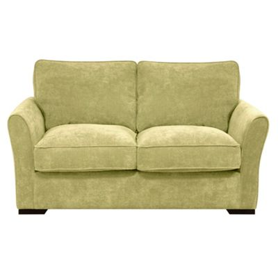 Lime Fyfield sofa bed with dark wood feet