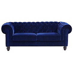 Debenhams - Large velvet 'Chesterfield Deluxe' sofa