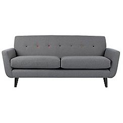 Ben de Lisi Home - Large 'Hockney' sofa with multi-coloured buttons