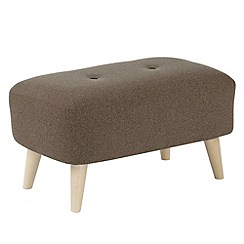 Ben de Lisi Home - Small 'Hockney' footstool with contrasting buttons