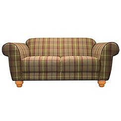 Debenhams - Small checked fabric 'Carnegie' sofa
