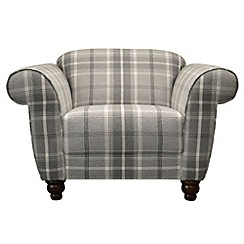 Debenhams - Checked fabric 'Carnegie' armchair