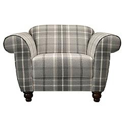 Debenhams - Checked fabric 'Carnegie' armchair