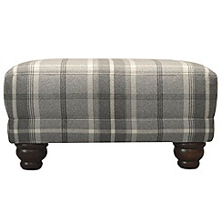 Debenhams - Checked fabric 'Carnegie' footstool
