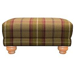 Debenhams - Checked fabric 'Carnegie' footstool