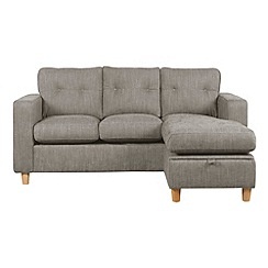 Debenhams - 'Simmone' right-hand facing chaise corner sofa bed