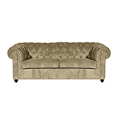 Debenhams - Large velour 'Chesterfield' sofa bed