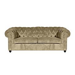 Debenhams - Large velour 'Chesterfield' sofa bed