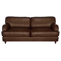 Debenhams - Large leather 'Alethea' sofa