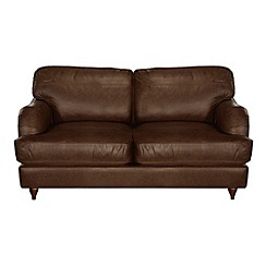 Debenhams - Small leather 'Alethea' sofa