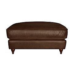 Debenhams - Leather 'Alethea' footstool