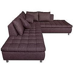 Debenhams - 'Stratos' left-hand facing chaise corner sofa