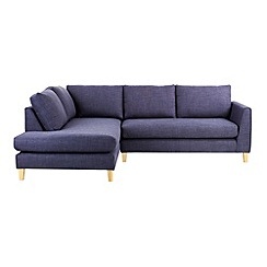 Ben de Lisi Home - Flat weave fabric 'Jakob' left-hand facing corner sofa