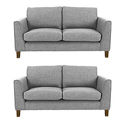 Ben de Lisi Home - Set of 2 small flat weave fabric 'Jakob' sofas