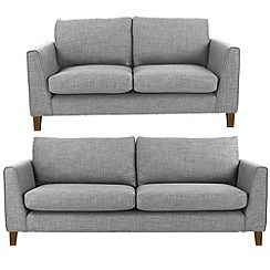 Ben de Lisi Home - Set of large and small flat weave fabric 'Jakob' sofas