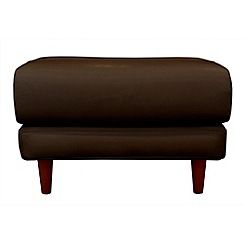 RJR.John Rocha - Leather 'Eclipse' footstool