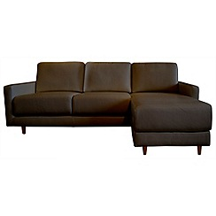 RJR.John Rocha - Leather 'Eclipse' right-hand facing chaise corner sofa