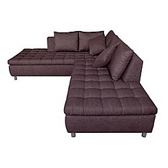 Debenhams - 'Stratos' right-hand facing chaise corner sofa