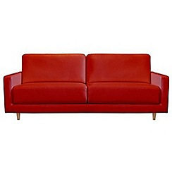 RJR.John Rocha - Large leather red 'Eclipse' sofa