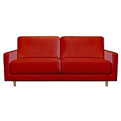 RJR.John Rocha - Medium leather red 'Eclipse' sofa