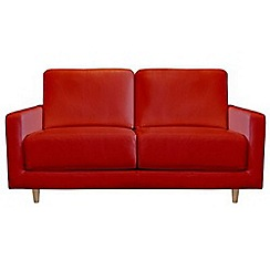 RJR.John Rocha - Small leather red 'Eclipse' sofa