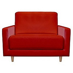 RJR.John Rocha - Leather red 'Eclipse' loveseat
