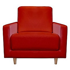 RJR.John Rocha - Leather red 'Eclipse' armchair