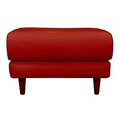 RJR.John Rocha - Leather red 'Eclipse' footstool