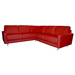 RJR.John Rocha - Leather red 'Eclipse' corner sofa