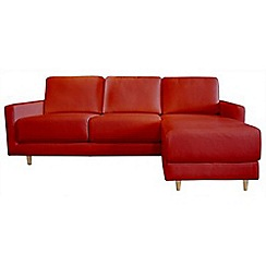 RJR.John Rocha - Leather red 'Eclipse' right-hand facing chaise corner sofa